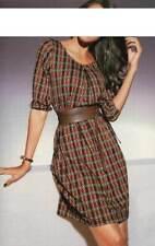 PATRIZIA DINI Designer Kleid orange bunt Gr 40 42 44 46 y3136