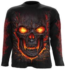SPIRAL DIRECT NEW SKULL LAVA Long sleeve T-Shirt/Tattoo/Goth/Flames/Reaper/Top