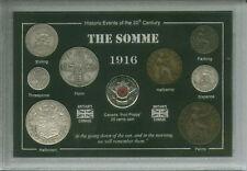 Battaglia della Somme WWI GRANDE GUERRA veterano memoria Papavero MEDAGLIA Set Regalo 1916