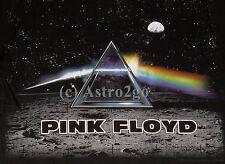 PINK FLOYD DARK SIDE LANDER--Liquid Blue Moon Astronomy Space soft T shirt M-XXL