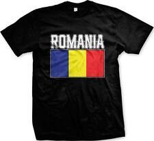 Romania Text Flag Romanian Pride Rumania Roumania Mandrie Mens T-shirt