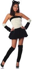 PANDA BABE Bear Costume Black White Dress Ears Leggings Glove XS Small 0 2