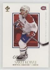 2002 Pacific Private Stock Reserve #53 Saku Koivu Montreal Canadiens Hockey Card
