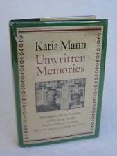 Katia Mann  UNWRITTEN MEMORIES (ill.) Alfred A Knopf c. 1975 HC/DJ 1stEd