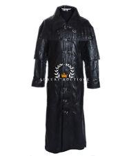 Van Helsing MEN'S LONG Smart Casual Nero Reale Lambskin LEATHER JACKET COAT