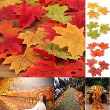 50/100pcs Autumn Maple Leaf Fall Fake Silk Leaves Wedding Party Xmas Art Decor