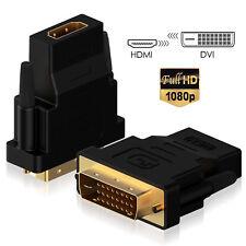 [Ultra-HD]1080P Gold Plated HDMI Female to DVI-D(24+1) Male AV Adapter Converter