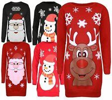 New Womens X-Mas Snowman Fleece Sweatshirt Jumpers 8-22