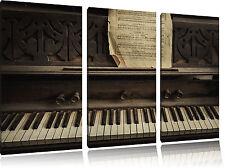 Antiguo Piano con Partitura 3-Teiler Foto en Lienzo Decoración de Pared