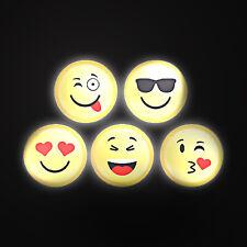 "6"" Plastic Emoji LED Lamp - Kids Bedroom Bedside Table / Wall Icon Night Light"