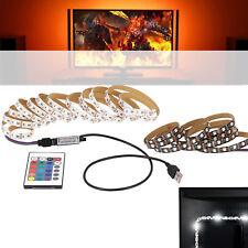 USB 5V 5050 60SMD/M RGB LED Strip Light Bar TV Back Lighting Kit + Remote ST-204