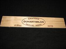 CHATEAU DUHART MILON Wine Crate PANEL Pauillac BORDEAUX Medoc