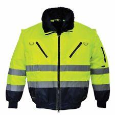 Portwest - Hi-Vis All-Weather 3-in-1 Warm Luxury Fur Lined Outdoor Pilot Jacket