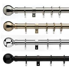 Universal Ball - 28mm 3-Sided Metal Bay Window Curtain Pole Sets - 300cm/500cm