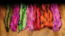 TWO TONE Rabbit Strips Hareline U.S.A. 4 x 30 cm 9 Farben Grade A Material