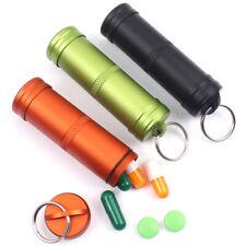 Wasserdichte Alu Pille Box Fall Flaschenhalter Container Schlüsselanhänger POP