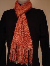 Hand Knit Scarf, Alpaca blend & Butterfly Eyelash mix