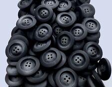 23mm 28mm Matt Black & Slate Grey Swirl Coat 4 Hole Buttons Button (Q644A Q644B)