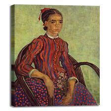 Van Gogh Mousmé seduta design quadro stampa tela dipinto telaio arredo casa