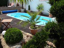 GFK Schwimmbecken 6,2x3 x1,5 GFK Pool vollisoliert Komplettset Einbaubecken