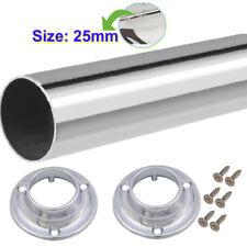 Garde-robe Rail Penderie ronde Hanging rails 25 mm avec extrémités libres & Vis
