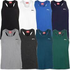✔ SLAZENGER Herren Unterhemd Tank Top Muskelshirt Sport Fitnessshirt Sportshirt