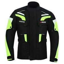 Kurze Textil Motorrad Jacke Motorradjacke Schwarz Weiß Gr. M bis 5XL Biker Jacke