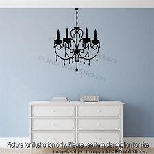 Moda Antigua Araña De Luz De Pared pegatinas de pared de Vinilo Autoadhesivos Hogar Decoración Mural