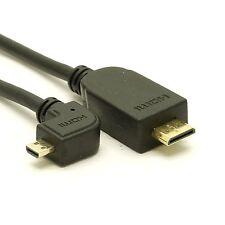 Right Angle Micro to Mini HDMI Cable - Ultra-Thin