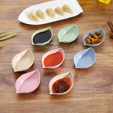 BH_ EB_ KF_ Leaf Shape Wheat Straw Seasoning Dish Sauce Vinegar Mini Plate Tool
