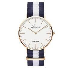 Nylon correa estilo cuarzo mujeres reloj marca Relojes moda Casual complementos