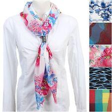 Neues Design Tuch Damen Schal Halstuch Kunstlederring Cloth Scarf