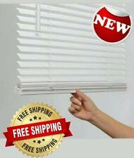 1-in Cordless White Vinyl Light Filtering Mini Blinds multiple sizes