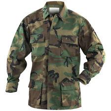 Mil-Tec Bdu Combate Táctico Camisa Hombres Caza Chaqueta Airsoft Top Woodland Ca