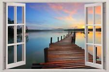 Into The Water 3D Window Decal Wall Sticker Art Mural Ocean Sea Landscape J403