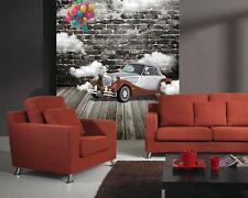 3D Black walls, cars, balloons Wall Paper Wall Print Decal Wall DecoAJ WALLPAPER