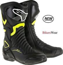 Alpinestars SMX S-MX 6 V2 Black/Fluo Motorcycle Racing&Sport Boots NEW +SOCKS
