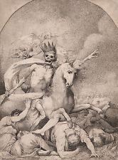"John Hamilton Mortimer: ""Death on a Pale Horse"" (c.1775) — Giclee Fine Art Print"