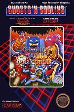 RGC Huge Poster - Ghosts and Goblins Original Nintendo NES BOX ART - NES025