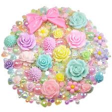 Mix Set Tonos Pastel flatback Cabuchones & Perlas Diamantes Adorno Decoden
