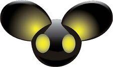 DJ Deadmau5 Yellow Sticker Decal *3 SIZES* Techno Electro EDM Vinyl Dead Mouse