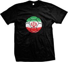 Islamic Republic of Iran Flag Soccer Ball Team Melli Futballe Iran Mens T-shirt