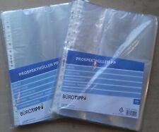 100er Packung Prospekthüllen Klarsichthüllen Sichthüllen A4 genarbt oder glatt