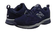 New Para hombre MX624NV4 Ante Azul Marino Balance 4E Ancho Zapatillas-nuevo