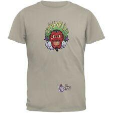 Devil & Flames Grey Adult T-Shirt