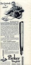 Parker Duofold--Füllhalter--Zwei Geschenke in einem-Werbung 1930