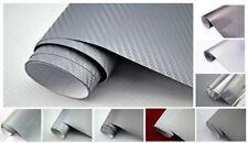 20€/m² Auto Folie - SILBER / GRAU  - 3D 4D Carbon Folie GLANZ MATT Gebürstet etc