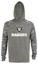 Zubaz NFL Men's Oakland Raiders Camo Long Sleeve Space Dye Hooded Shirt, Grey