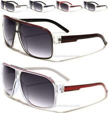 Occhiali Da Sole Nuovo Nero Designer Grande Da Uomo Donna Vintage Retro Aviator UV400 grandi