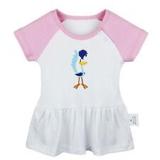 Cartoon Road Runner Bird Newborn Baby Dress Toddler Infant 100% Cotton Clothes